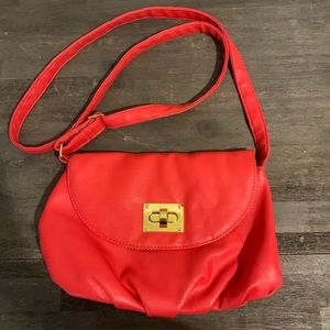Boutique Burnt orange Red Cross body purse nwot.